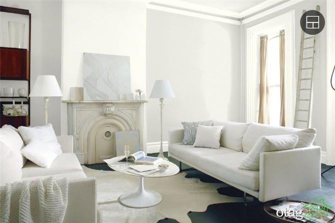 بهترین مدل های رنگ سفید دکوراسیون داخلی با اسامی کامل