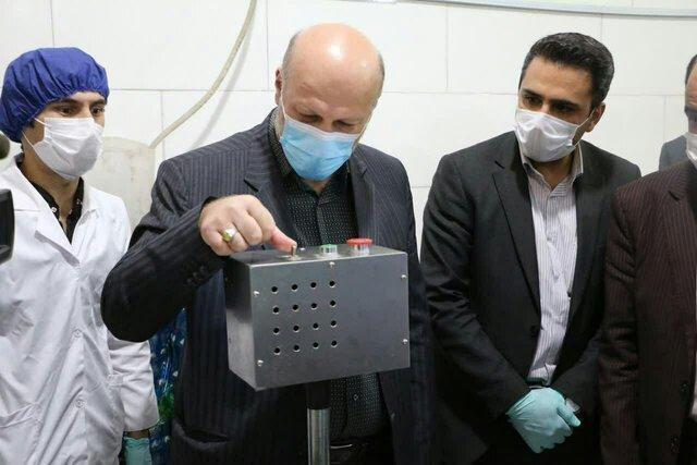 کارخانه تولید ماسک در ورامین افتتاح شد