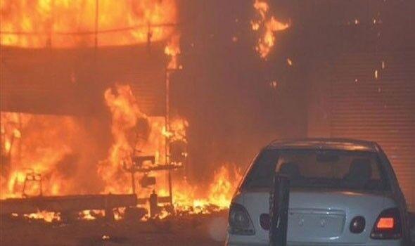 آتش سوزی گسترده در بندر عبدالله کویت