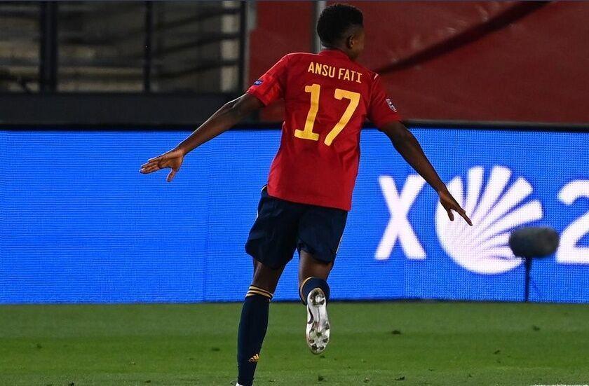 خبرنگاران آنسو فاتی جوان ترین گلزن تاریخ تیم ملی اسپانیا لقب گرفت