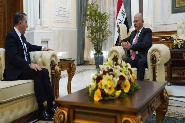 ملاقات سفیر ترکیه در بغداد با رئیسجمهور عراق، تأکید بر کاهش تنشها