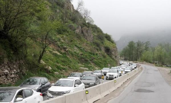 ترافیک سنگین در چالوس و آزاد راه کرج-قزوین